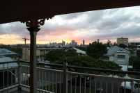 Gorgeous city sunset at the end of a big day's work!